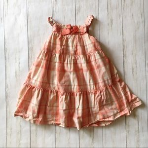 Janie & Jack Pink Plaid Ruffle Dress